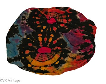 Black Thai Tie Dye Headwrap - Bohemian Headband - Fair Trade Headband - BOHO Headwrap