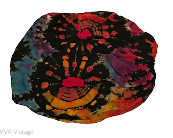 Black Thai Tie Dye Headwrap - Bohemian Headbands - Fair Trade Headbands - BOHO Headwraps