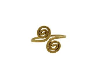 Brass Spiral Ring - Fair Trade Rings - Handmade Rings - Statement Rings