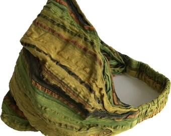 Lime & Yellow Multi-Striped Headband - Headbands - Bohemian Headband - Boho Head Wrap - Wide Headband - Fair Trade - Hippie Headband