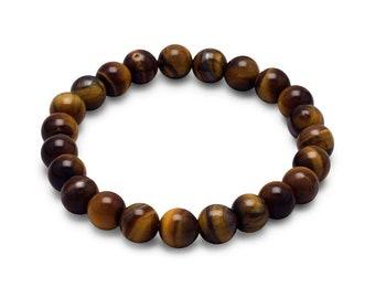 Tiger's Eye Power Gemstone Bracelet - Tiger's Eye Bracelet - Tiger's Eye Stretch Bracelet - Gemstone Bracelet - Power Bead