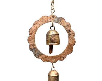 Surya Chime - Wind Chimes - Chimes - Recycled Metal - Garden Decoration - Fair Trade - Metal Chimes - Home Decor - Fair Trade Chimes