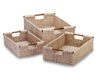 Corn Husk Nesting Baskets - Nesting Baskets - Baskets - Corn Husk Baskets - Storage Baskets - Home Decor