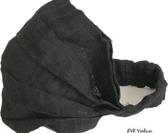 Guatemalan Black Headband - Bohemian Headband - Boho Head Wrap - Fair Trade - Wide Headband - Hippie Headwrap