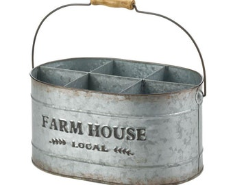 Galvanized Metal Wine Bucket - Wine Buckets - Wine Storage - Barware - Kitchen - Dining - Rustic Wine Bucket -  Wine Caddy
