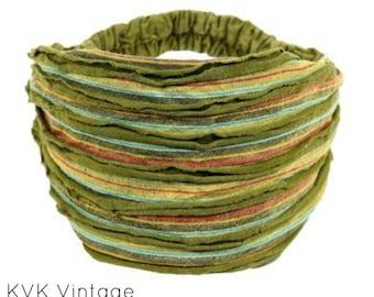 Green Stripe Headband - BOHO Headband - Hippie Headband - Wide Headband - Hair - Accessories - Fair Trade