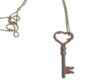 Vintage Skeleton Key Necklace (MEDIEVAL 2) - Old Key Necklaces - Gothic Key Necklace - Rustic Key Necklace