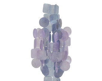 Medium Orchid Capiz Shell Chime – Wind Chimes - Chimes - Garden Decoration - Outdoor Living -  Fair Trade - Shell Chimes - Shell Wind Chimes