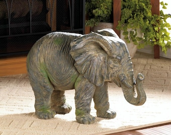 Weathered Elephant Statue - Elephant Statues - Statues - Home Decor - Animal Statues - Elephants - Home Accents