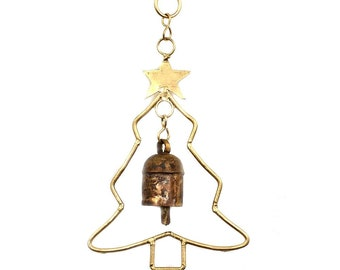 Christmas Tree Bell Chime - Home Décor - Ornaments - Fair Trade