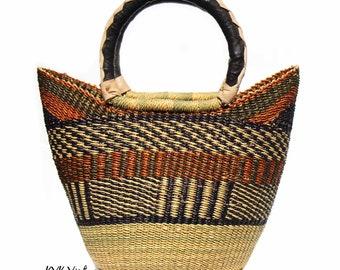 Bolga Basket Tote Bag - Beach Bag - Straw Bag - Fair Trade