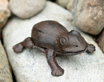 Cast Iron Frog Key Holder - Animal Key Holder - Key Hider - Garden Decoration - Home Decor