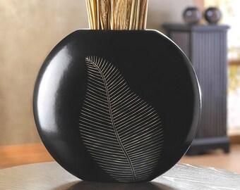 Wooden Leaf Vase - Vase - Vases - Artisan Leaf Vase - Artisan Vase - Home Decor - Wood Vase - Wooden Vase