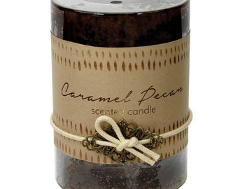 Caramel Pecan Candle -  Candle - Scented Candle - Pillar Candle - Caramel Pillar Candle - Pecan Pillar Candle