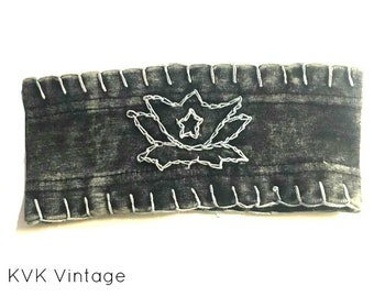 Black Lotus Flower Wide Headband - Bohemian Headbands - Fair Trade Headbands - Yoga Headbands