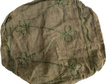 Olive Green Swirl Headband - Bohemian Headband - Boho Head Wrap - Fair Trade - Wide Headband - Hippie Headwrap