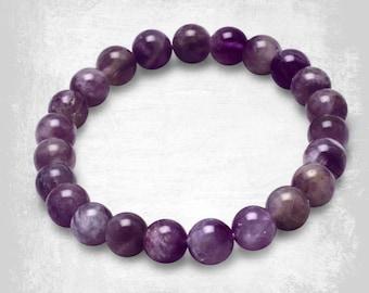 Amethyst Gemstone Bracelet - Beaded Bracelet – Amethyst Stone Bracelet - Gemstone Jewelry