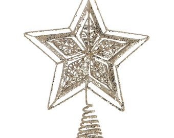 Gold Star Tree Topper - Holiday Accents - Holiday Decor - Home Decor - Ornaments - Holiday Accents - Christmas Decorations