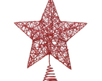 Red Star Tree Topper - Holiday Accents - Holiday Decor - Ornaments - Holiday Accents - Christmas Decorations - Tree Toppers