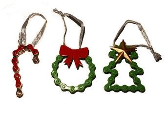 Colorful Bike Chain Ornament Set - Home Décor - Ornaments - Fair Trade