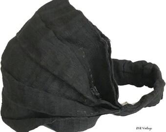 Guatemalan Black Headband - Boho Headband - Hippie Headband - Fair Trade