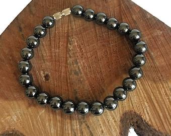 Hematite Bead Bracelet - Hematite Bead Bracelet - Hematite Bracelets - Gemstone Bracelets - Hematite - Beaded Bracelets - Bracelets