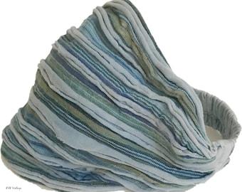 Light Blue Stripe Headband - Boho Headband - Hippie Headband - Fair Trade