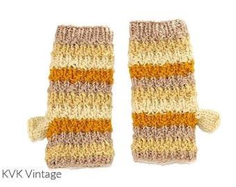 Fall Mix Wool Knit Handwarmers - Fair Trade - Arm Warmers - Fingerless Gloves