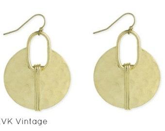 Gold Hammered Ethnic Crescent Earring - Boho Jewelry - Boho Earrings - Bohemian Jewelry - Gold Hammered Earrings - Ethnic Earrings