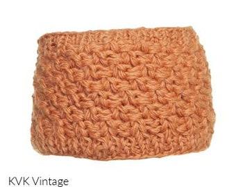 Light Orange Wool Knit Headband - Knit Headbands - Hand Knit Headband - Fair Trade
