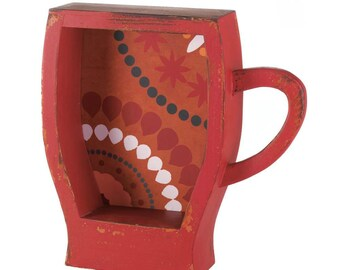 Red Coffee Cup Shelf - Home Decor - Home Accessories - Home Living - Wall Decor