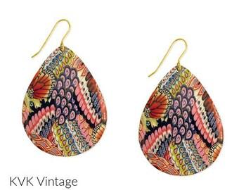 Bohemian Dream Multi-Print Earrings - Bohemian Earrings - Hippie Earrings - Earrings - Drop Earrings - Dangle Earrings - Tear Drop Earrings