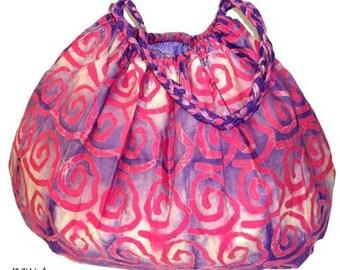 Batik Swirl Hobo Shoulder Bag - Hobo Bags - Fair Trade - Bohemian Shoulder Bags