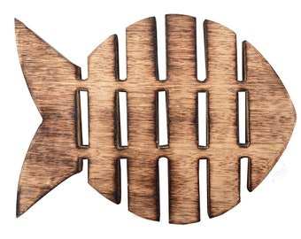 Wooden Fish Trivet - Trivets - Wood - Fair Trade - Fish -  Kitchen - Home Decor - Wood Trivet - Mango Wood - Fair Trade Trivet - Wooden