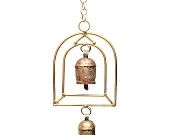 Temple Chime - Wind Chimes - Chimes - Recycled Metal - Garden Decoration - Fair Trade - Metal Chimes - Home Decor - Fair Trade Chimes