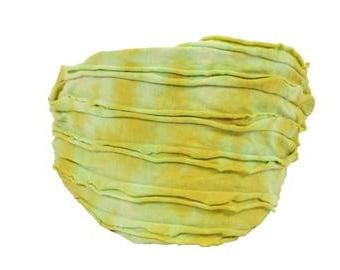 Chartreuse Yellow Tie-Dye Razor Cut Headband - Bohemian Headbands - Fair Trade Headbands - BOHO Headwraps