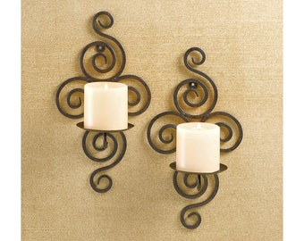Scrollwork Wall Sconces - Candle Holder - Wall Sconce - Wall Candle Holder