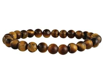 Men's Tiger's Eye Bead Stretch Bracelet - Men's Beaded Bracelet - Men's Bracelet - Gift for Men