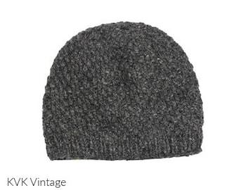 Gray Wool Knit Hat - Handmade Hat - Knit Hat - Womens Knit Hat - Wool Hat