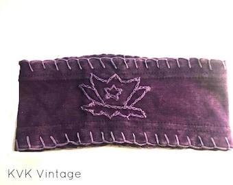 Purple Lotus Flower Headband - Boho Headband - Bohemian Headband - Headbands for Women - Wide Headband