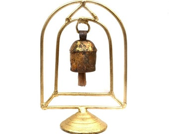 Temple Bell Stand - Bells - Altar Bell - Bell Wind Chime - Rustic Bells