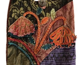 Colorful Floral Patchwork Crossbody Bag - Sling Bag - Boho Bag - Handmade Bag