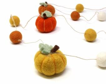 Pumpkin Felt Garland Autumn Décor - Felt Garland - Pumpkin Garland - Halloween Garland