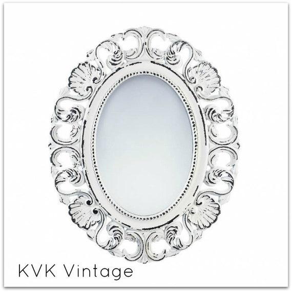 BOHO Chic Vintage Off-White Wall Mirror - Mirror - BOHO Chic Mirror - Shabby Chic