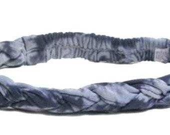 Indigo Blue Tie Dye Braided Headband - Boho Headband - Bohemian Headband - Headbands for Women - Hippie Headband