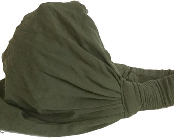 Olive Green Thai Head Wrap - Boho Headband - Headbands for Women - Hippie Headband - Hair Scarf
