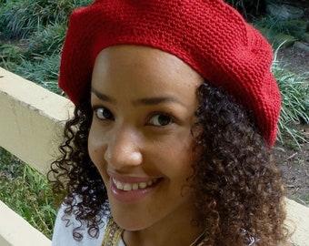 Beret Hat Solid Color -  French Beret - Tam Hat - Crochet Hat