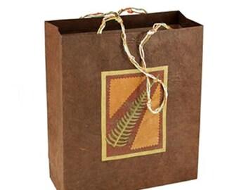 Fern Leaf Gift Bag - Autumn Gift Bag - Reusable Bag - Gift Wrap - Eco Friendly Bag
