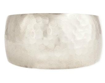Silver Hammered Cuff Bracelet - Boho Bracelet - Wide Cuff Bracelet - Bohemian Jewelry