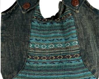 Stonewashed Stripe Hobo Bag - Hobo Bags - Boho Bag - Handmade Bag